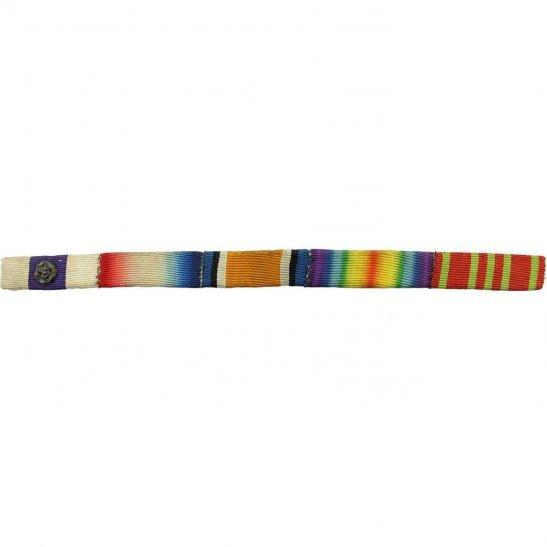 WW1 Military Cross MC Rosette, 1914/15 Star British War & Victory Medal Trio Ribbon Bar - SEW ON