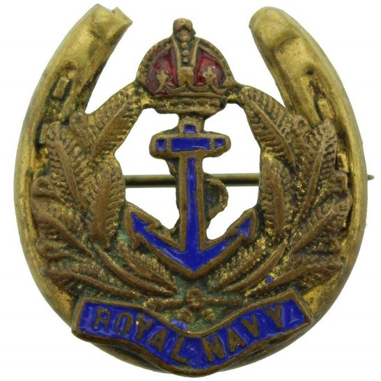 Royal Navy British Royal Navy Naval Sweetheart Brooch