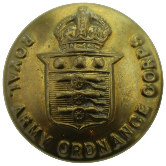 Royal Army Ordnance Corps RAOC WW2 Royal Army Ordnance Corps RAOC SMALL Tunic Button - 19mm