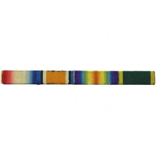 WW1 Trio 1914/15 Star, British War, Victory & Efficiency Medal Ribbon Bar - PIN BACK