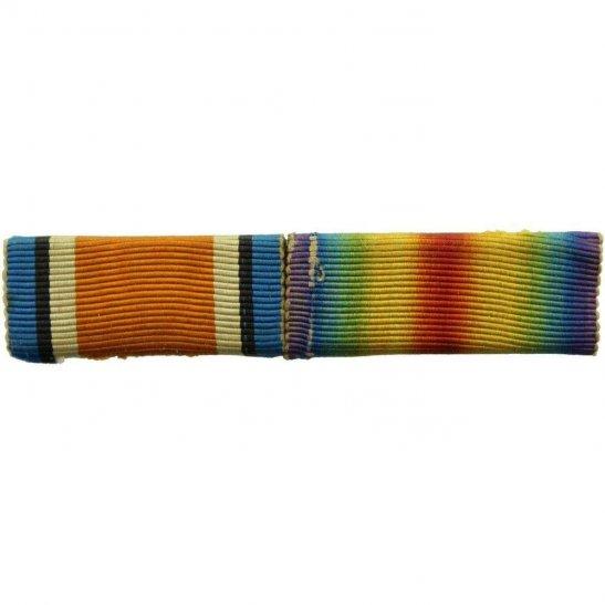 WW1 Pair (British War & Victory Medal) Ribbon Bar - PIN BACK