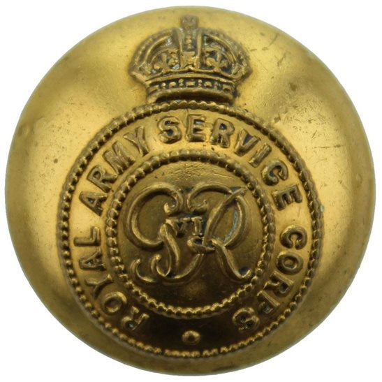 Royal Army Service Corps RASC WW2 Royal Army Service Corps RASC George VI Tunic Button - 26mm