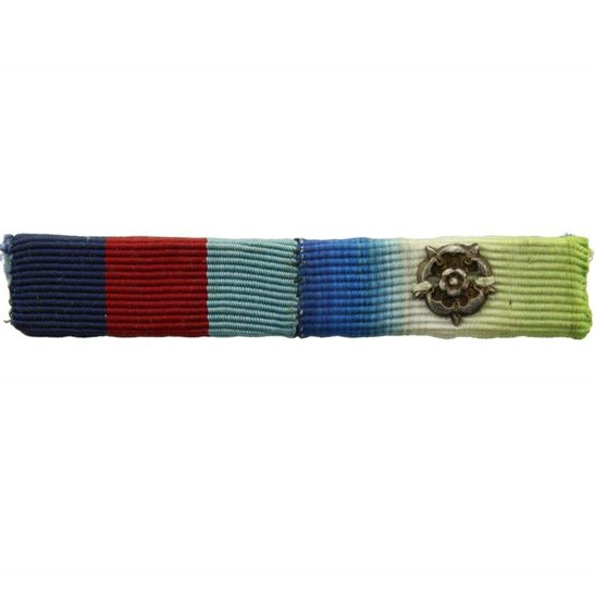 WW2 Medal Rosette WW2 Atlantic Star Campaign Medal Ribbon Bar Silver Rosette (to denote Clasp)