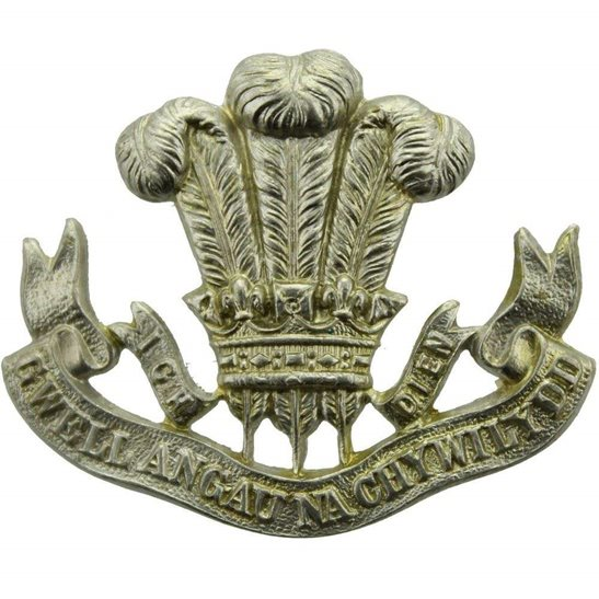 Welsh Regiment The Welsh Regiment (Welch) Collar Badge