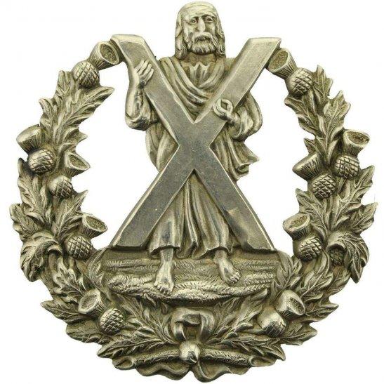 Cameron Highlanders EDWARDIAN Queens Own Cameron Highlanders Regiment Cap Badge - No Scroll