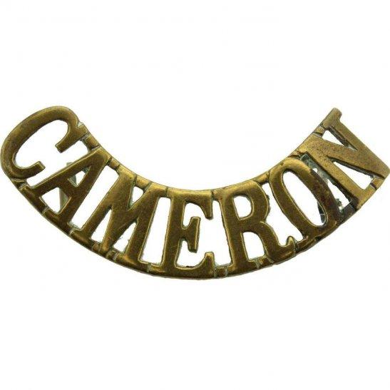 Cameron Highlanders WW1 Queens Own Cameron Highlanders Regiment Shoulder Title