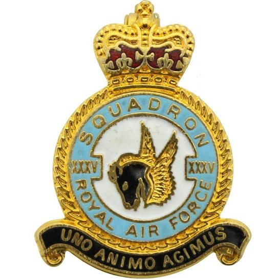 RAF Squadrons XXXV 35 Squadron Royal Air Force RAF Lapel Badge