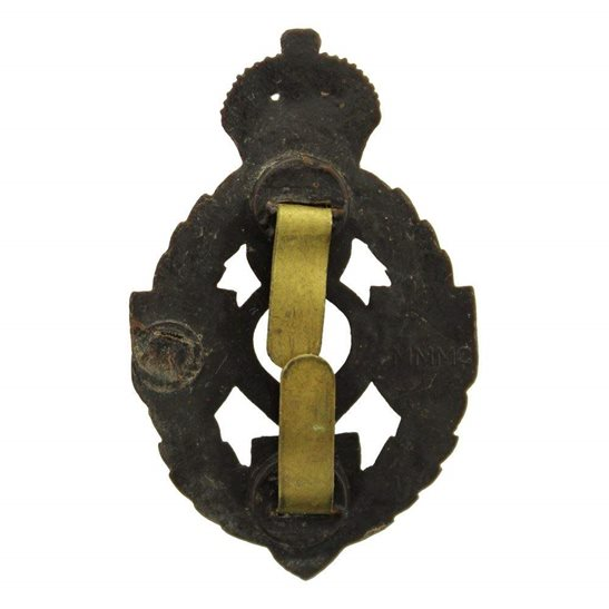 additional image for WW2 Royal Electrical & Mechanical Engineers Corps REME PLASTIC Economy Issue Cap Badge