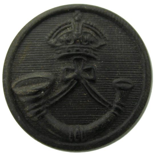 Rifle Brigade The Rifle Brigade (Prince Consort's Own) Regiment PLASTIC Tunic Button - 23mm
