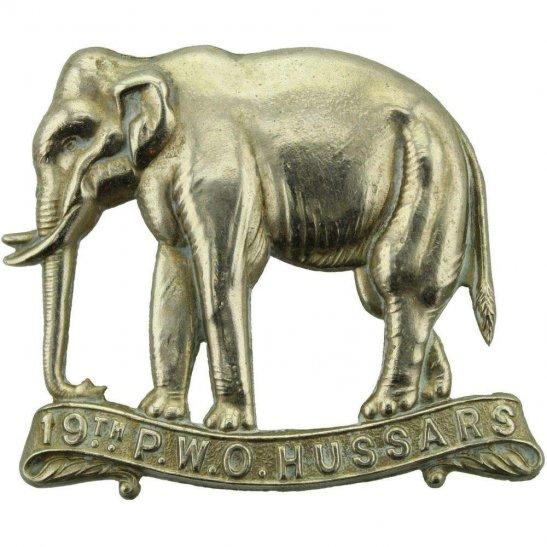 19th Hussars WW1 19th (Alexandra, Princess of Wales's Own) Hussars Regiment Cap Badge