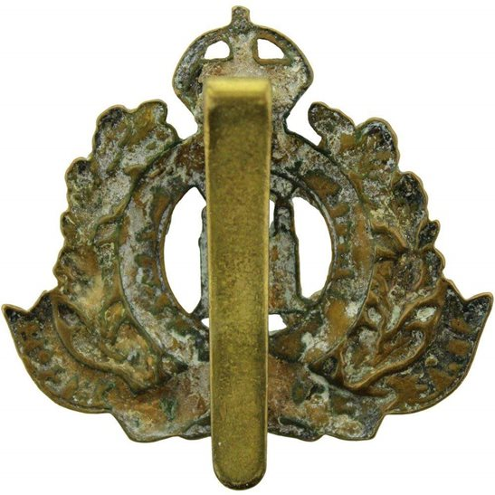 additional image for WW1 Suffolk Regiment ALL BRASS Economy Issue Cap Badge
