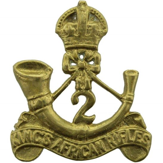 South African Army 2nd Battalion Kings African Rifles Regiment KAR King's Africa Cap Badge