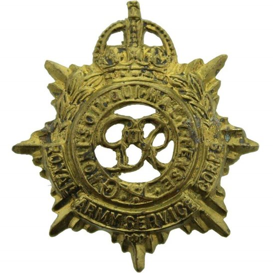 Royal Army Service Corps RASC WW2 Royal Army Service Corps RASC (George VI) Collar Badge