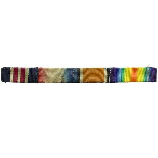 Military Medal MM & WW1 Trio 1914/15 Star, British War Ribbon Bar - PIN BACK