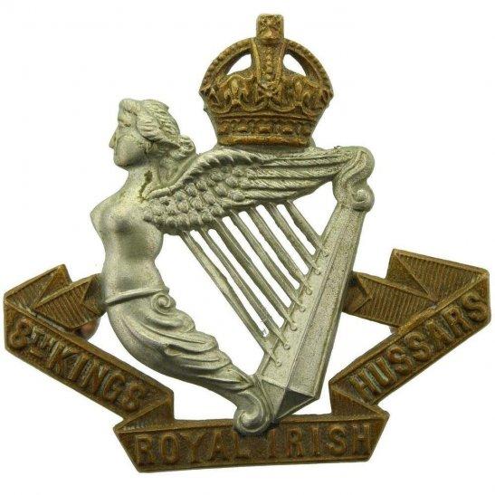 8th Hussars WW1 8th Kings Royal Irish Hussars Regiment (King's) Cap Badge - LUGS VERSION