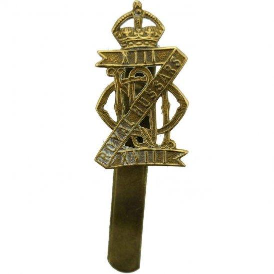 13th/18th Hussars WW2 13th / 18th Royal Hussars Regiment Cap Badge