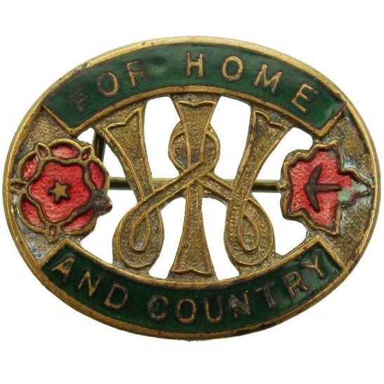 Womens Institute (For Home and Country) Enamel Lapel Badge