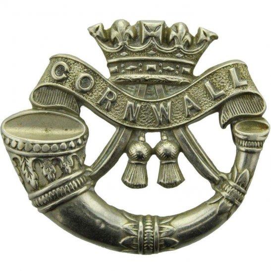 Duke of Cornwalls Light Infantry EDWARDIAN Duke of Cornwalls Light Infantry DCLI (Cornwall's) Regiment Cap Badge - LUG VERSION
