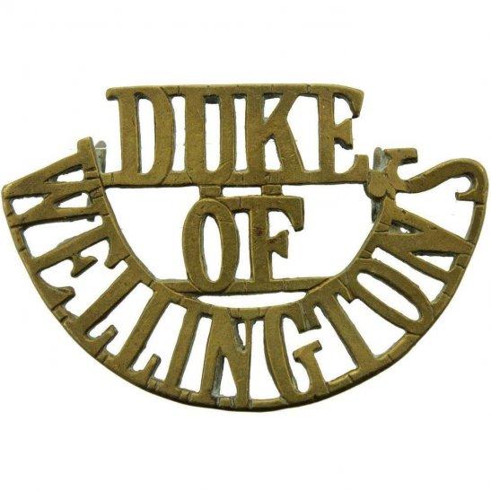 West Riding Duke of Wellingtons West Riding Regiment Shoulder Title