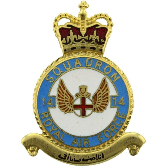 RAF Squadrons 14 Squadron Royal Air Force PLAQUE Badge RAF