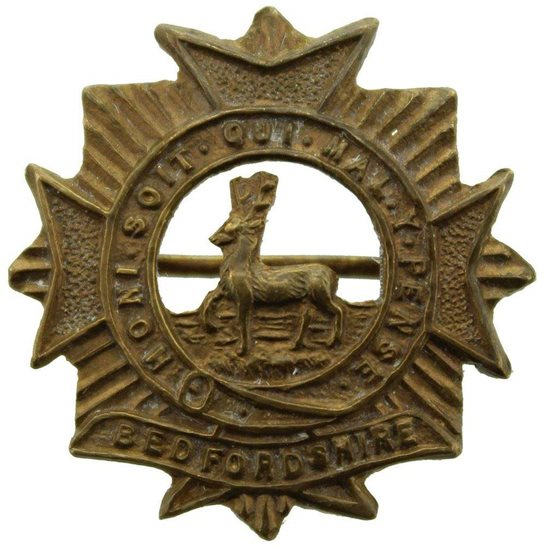 Bedfordshire Regiment Bedfordshire Regiment Sweetheart Brooch Badge