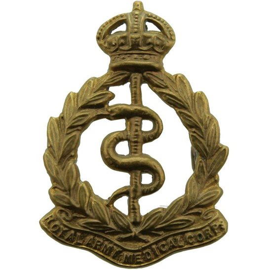 Royal Army Medical Corps RAMC WW1 Royal Army Medical Corps RAMC Collar Badge