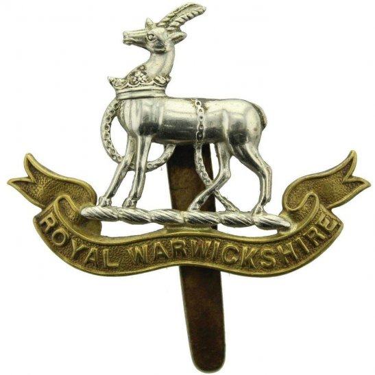 Royal Warwickshire WW1 Royal Warwickshire Regiment Cap Badge - F.N. B'HAM Makers Mark