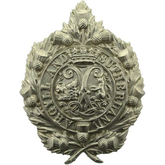 Argyll and Sutherland Highlanders EARLY PATTERN Argyll and Sutherland Highlanders Regiment NON-VOIDED Cap Badge