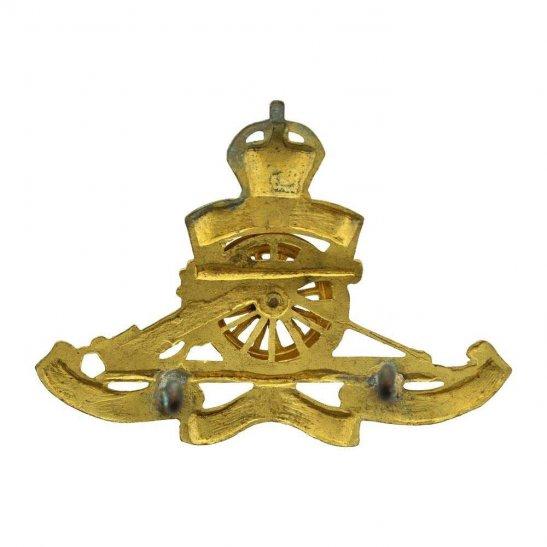 additional image for WW2 Royal Artillery Regiment OFFICERS Gilt Cap Badge