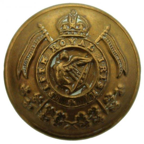 5th Royal Irish Lancers WW1 Fifth Royal Irish Lancers 5th Regiment SMALL Tunic Button - 19mm