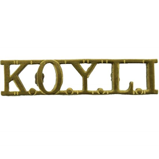 Kings Own Yorkshire Light Infantry KOYLI Kings Own Yorkshire Light Infantry (KOYLI) King's Shoulder Title
