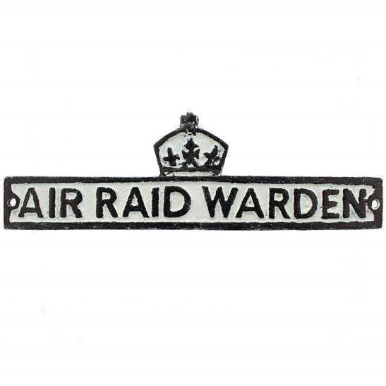 Air Raid Precautions ARP WW2 Air Raid Precautions Warden ARP Post Metal Door Plaque Sign