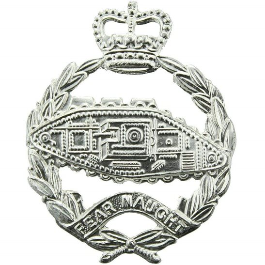 Royal Tank Regiment Staybrite Anodised Cap Badge - Staybright