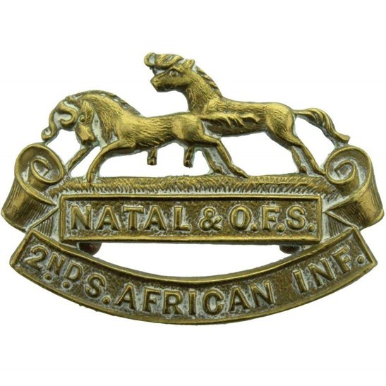 South African Army 2nd South African Infantry Forces Division Africa Collar Badge