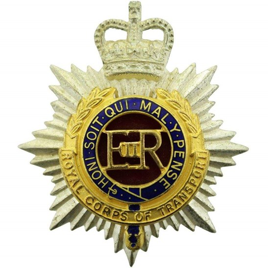 Royal Corps Of Transport Rct Officers Gilt Cap Badge Queens Crown