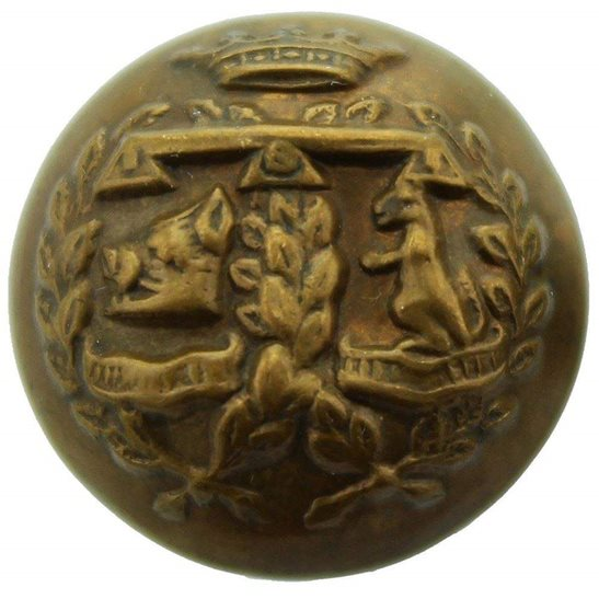 Argyll and Sutherland Highlanders WW1 Argyll and Sutherland Highlanders Scottish Regiment SMALL Tunic Button - 19mm