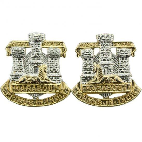 Devon and Dorset Regiment Staybrite Anodised Collar Badge PAIR - Staybright