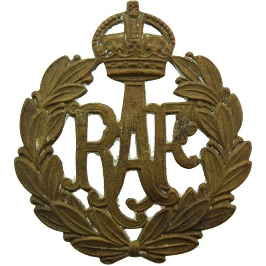 Royal Air Force RAF WW1 Royal Air Force RAF Cap Badge