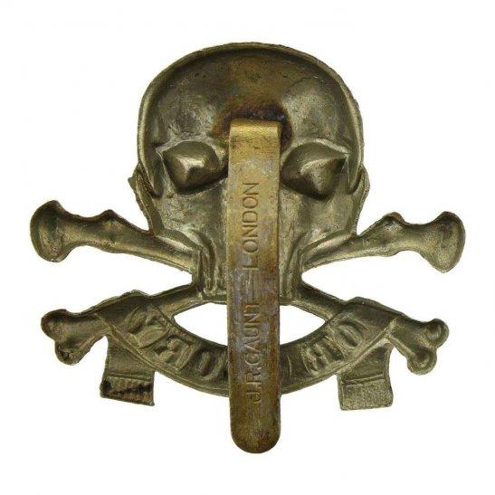 additional image for WW2 17th / 21st Lancers (Deaths Head) Regiment Cap Badge J.R.GAUNT Makers Mark