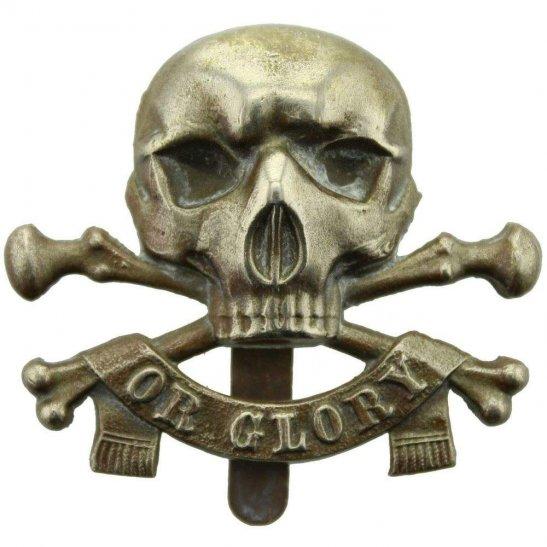 17th / 21st Lancers WW2 17th / 21st Lancers (Deaths Head) Regiment Cap Badge J.R.GAUNT Makers Mark