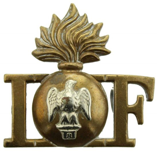 Royal Irish Fusiliers WW1 Royal Irish Fusiliers Regiment RIF Shoulder Title