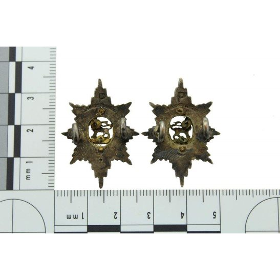 additional image for Worcestershire Regiment OFFICERS Gilt Collar Badge PAIR