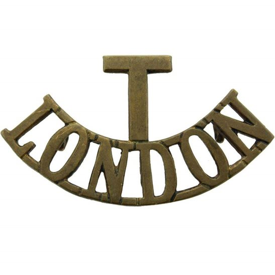 London Battalions WW1 Territorial Battalion, London Regiment Shoulder Title