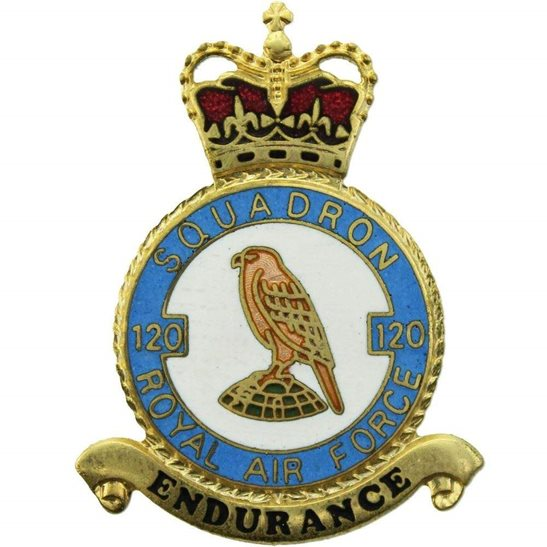 RAF Squadrons 120 Squadron Royal Air Force PLAQUE Badge RAF