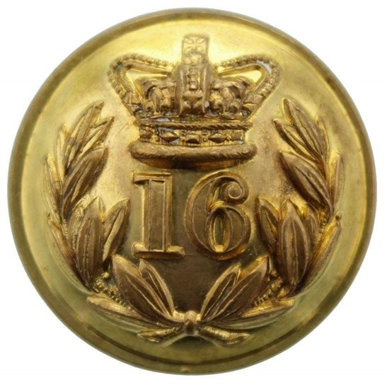 Bedfordshire Regiment VICTORIAN 16th Regiment of Foot (Bedfordshire) 1855-1881 OFFICERS Tunic Button - 25mm