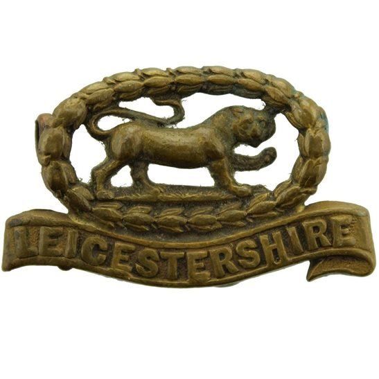 Leicestershire Regiment Leicestershire (Leicester) Regiment OFFICERS Bronze Collar Badge