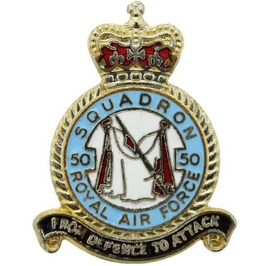RAF Squadrons 50 Squadron Royal Air Force RAF Lapel Badge