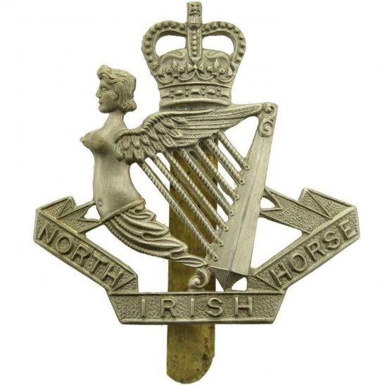 North Irish Horse North Irish Horse Regiment Cap Badge - Queens Crown