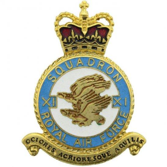 RAF Squadrons 11 XI Squadron Royal Air Force PLAQUE Badge RAF