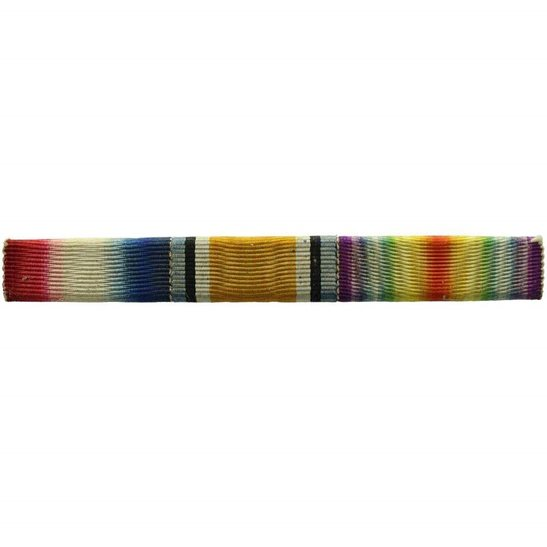 Ribbon Tie Bar : Ww trio star british war victory medal